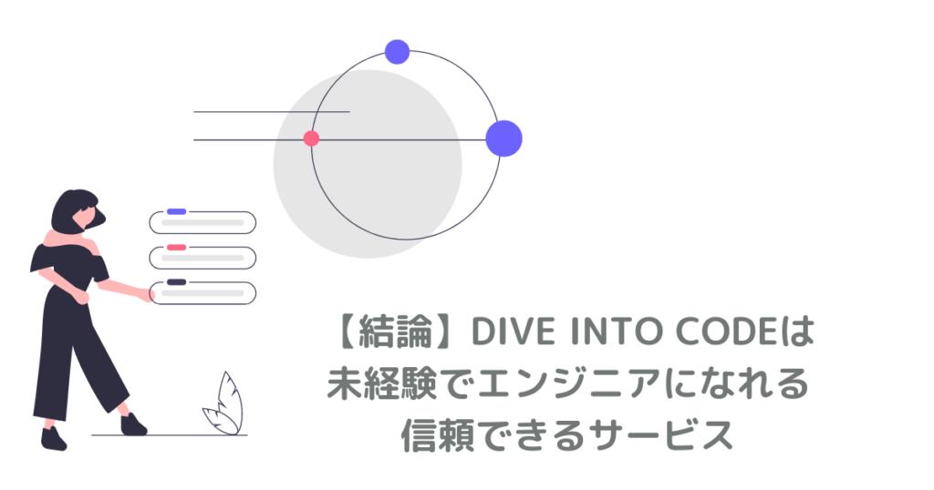 DIVE INTO CODEは未経験でエンジニアになれる信頼できるサービス